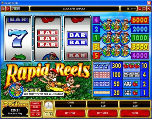 Rapid Reels review on Big Bonus Slots