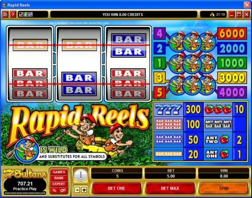 Rapid Reels review on Big Bonus Slots