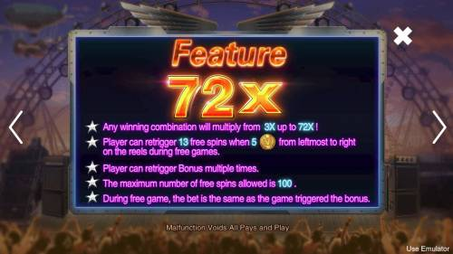 Rave High Big Bonus Slots Feature Rules