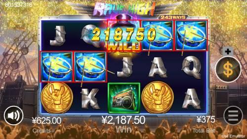 Rave High Big Bonus Slots Multiple winning combinations
