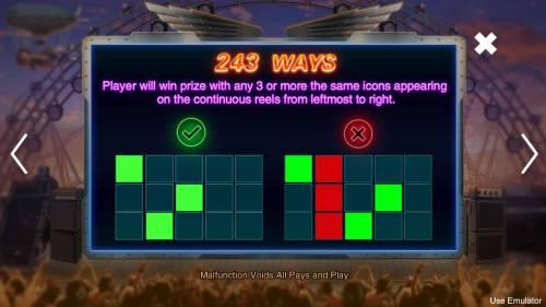 Rave High Big Bonus Slots 243 Ways to Win