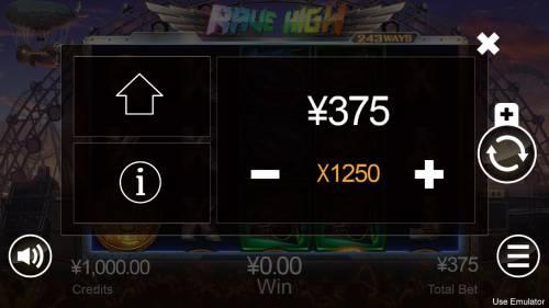 Rave High Big Bonus Slots Betting Options