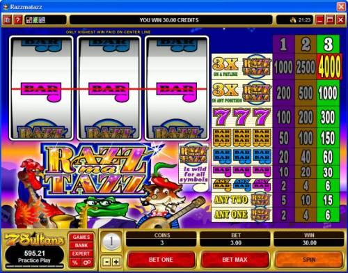 Razzmatazz review on Big Bonus Slots