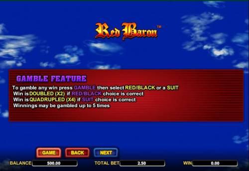 Red Baron review on Big Bonus Slots