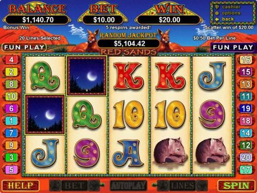 Red Sands review on Big Bonus Slots