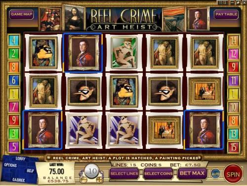 Reel Crime Art Heist review on Big Bonus Slots