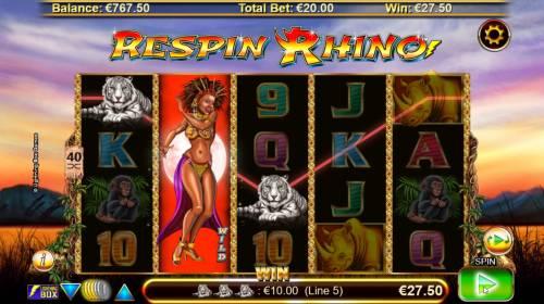Respin Rhino Big Bonus Slots Multiple winning paylines