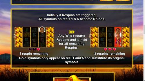 Respin Rhino Big Bonus Slots Feature Rules