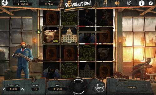 Revolution Big Bonus Slots Rotator feature triggers another win