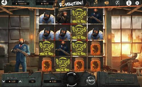Revolution Big Bonus Slots Main Game Board