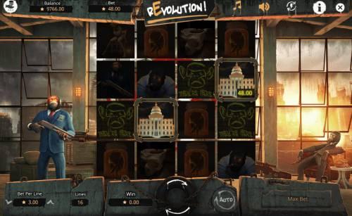 Revolution Big Bonus Slots Rotator feature activated