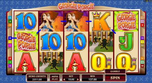 Rhyming Reels - Georgie Porgie review on Big Bonus Slots