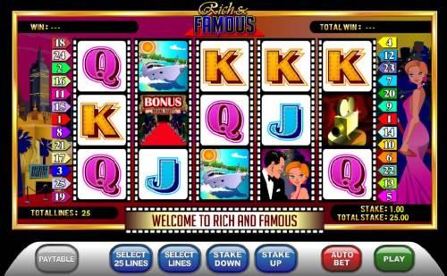 Rich & Famous review on Big Bonus Slots