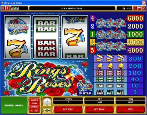 Rings & Roses review on Big Bonus Slots