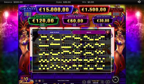 Rio Riches Stacked Up review on Big Bonus Slots