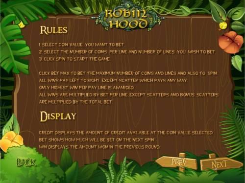 Robin Hood review on Big Bonus Slots