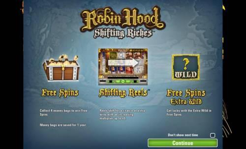 Robin Hood - Shifting Riches review on Big Bonus Slots