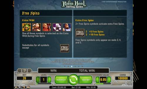 Robin Hood - Shifting Riches review on Big Bonus Slots