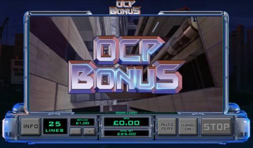 RoboCop Big Bonus Slots Bonus feature triggered