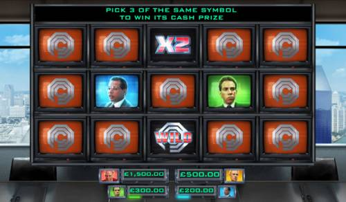 RoboCop Big Bonus Slots Bonus Feature Game Board