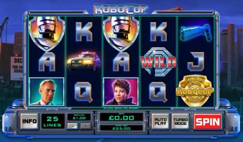 RoboCop Big Bonus Slots Main Game Board