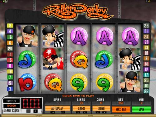 Roller Derby review on Big Bonus Slots