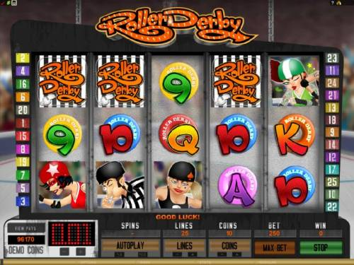 Roller Derby review on Big Bonus Slots