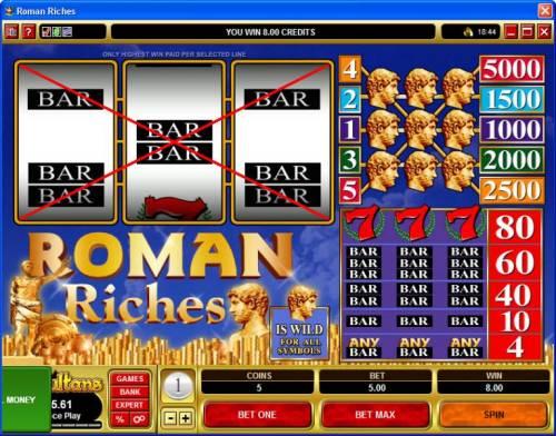 Roman Riches review on Big Bonus Slots