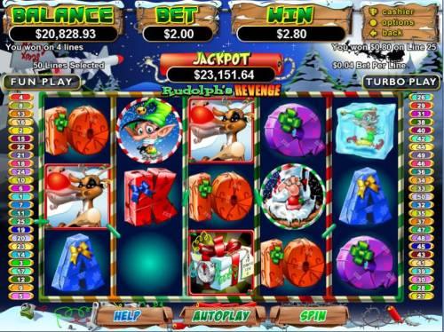 Rudolph's Revenge Big Bonus Slots