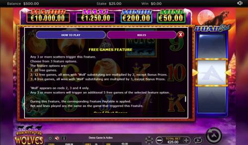Run with the Wolves Quad Shot review on Big Bonus Slots
