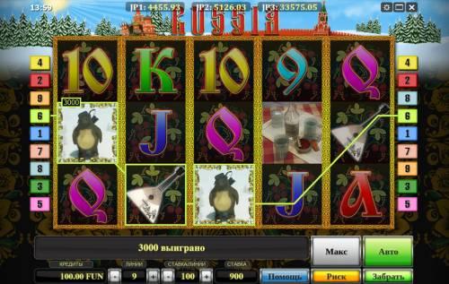 Russia Big Bonus Slots A winning three of a kind