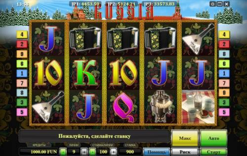Russia Big Bonus Slots Main Game Board