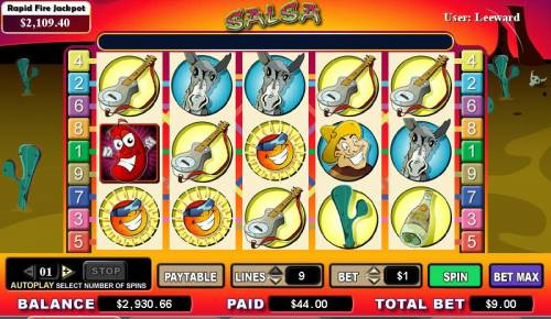 Salsa review on Big Bonus Slots