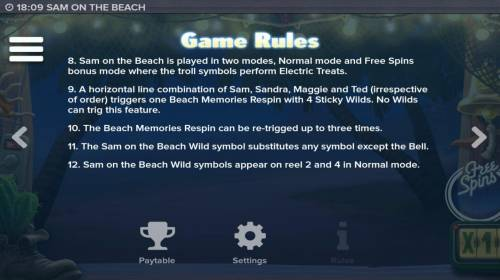 Sam on the Beach review on Big Bonus Slots