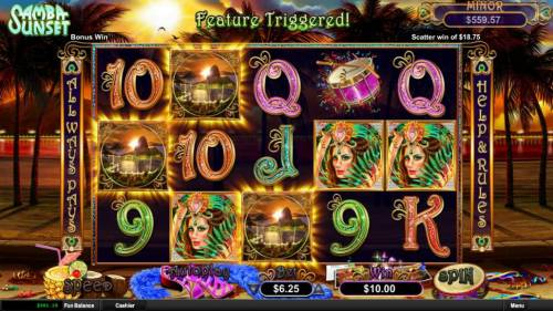 Samba Sunset review on Big Bonus Slots