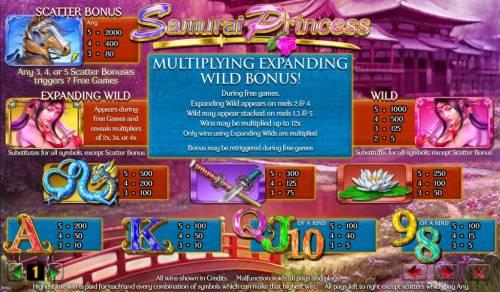 Samurai Princess review on Big Bonus Slots