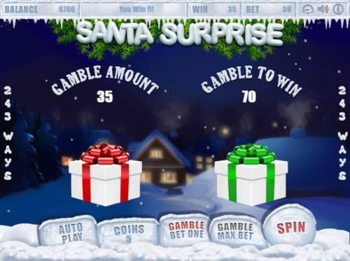 Santa Surprise Big Bonus Slots Gamble Feature Game Board