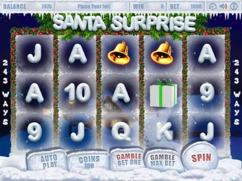 Santa Surprise Big Bonus Slots Main Game Board