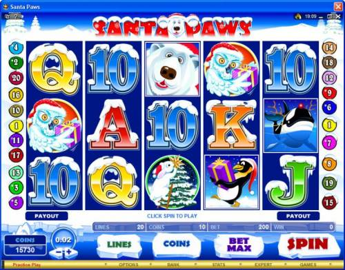 Santa Paws review on Big Bonus Slots
