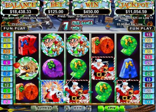 Santa Strikes Back Big Bonus Slots Bonus Round