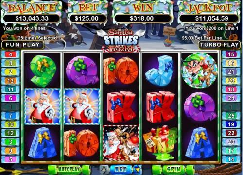 Santa Strikes Back review on Big Bonus Slots
