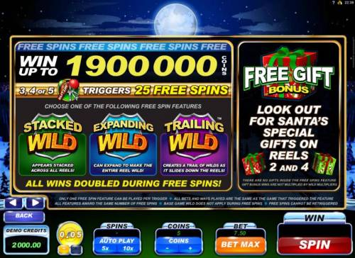 Santa's Wild Ride review on Big Bonus Slots