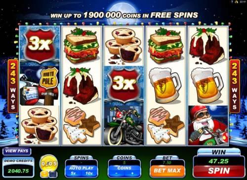 Santa's Wild Ride review on Big Bonus Slots