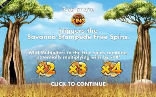 Savanna King Jackpot review on Big Bonus Slots