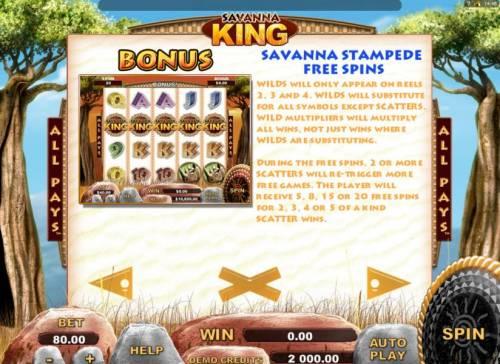 Savanna King review on Big Bonus Slots