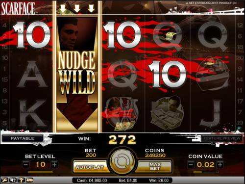 Scarface Big Bonus Slots Scarface slot game nudge wild triggered