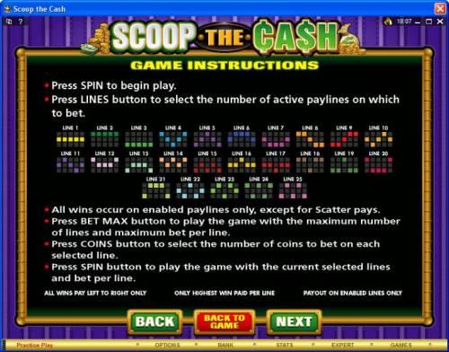 Scoop the Cash review on Big Bonus Slots