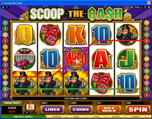 Scoop the Cash review on Big Bonus Slots