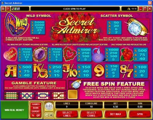 Secret Admirer review on Big Bonus Slots