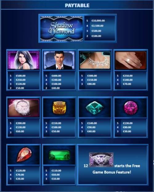 Shadow Diamond Big Bonus Slots Slot game symbols paytable
